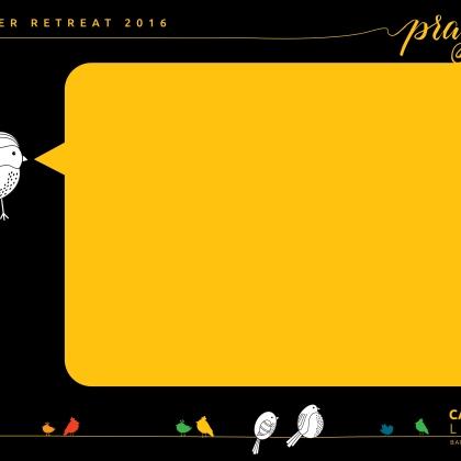 Slide template for summer retreat